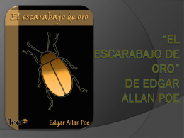 *EL ESCARABAJO DE ORO* DE EDGAR ALLAN POE