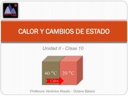 8° C10 – Calor y cambios de estado