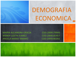 demografia economica definicion