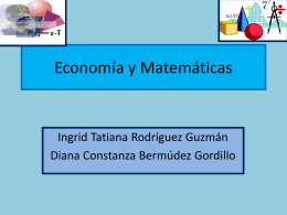 Economía y Matemáticas