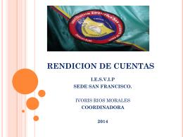 RENDICION DE CUENTAS - IE SAN VICENTE DE PAUL