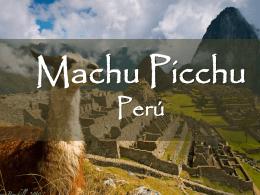 TF Machu Picchu info