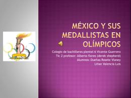 México y sus medallistas en olímpicos