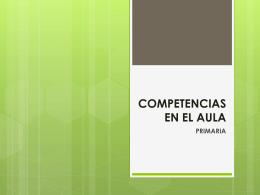 COMPETENCIAS EN EL AULA PRIMARIA
