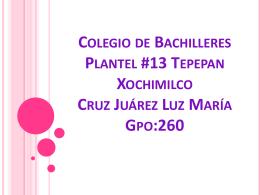Colegio de Bachilleres Plantel #13 Tepepan Xochimilco Cruz