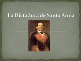 La Dictadura de Santa Anna