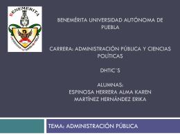 administración pública y ciencias políticas dhtic´s