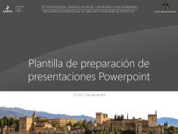 Formato para la presentación oral en Powerpoint