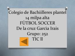 Colegio de Bachiilleres plantel 14 milpa alta FÙTBOL SOCCER De