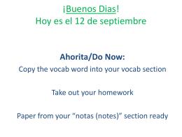 ¡Bienvenido a la clase de Español II! Señorita Morse - language-b