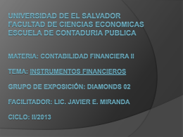 INSTRUMENTOS FINANCIEROS