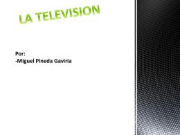 La televisión - televisionmpg