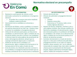 Normativa electoral en precampaña NO ESTÁ PERMITIDO