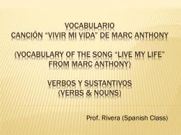 Presentacion de cancion Vivir la vida Marc Anthony
