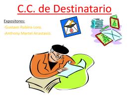 c.c. de destinatario