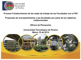 Presentación del Proceso. - Universidad Tecnológica de Pereira