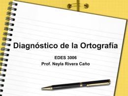 Diagnostico de la Ortografía