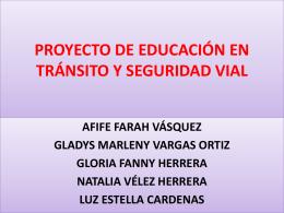 proyecto de educación en tránsito y seguridad vial