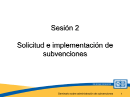 Tipos y requisitos de Subvenciones