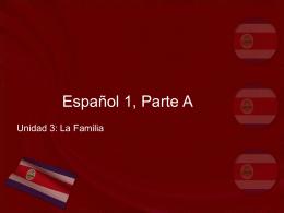 Español 1, Parte A