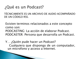 TALLER 3 - PODCAST Y SITIOS WEB compartir