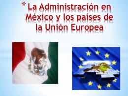 CONTENIDO - la administracion en mexico y en los paises de