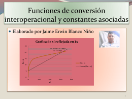 Funciones de conversión entre valores de sumatoria y factorial en x
