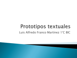 ¿Qué son los prototipos textuales?