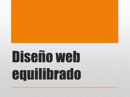 Diseño web equilibrado