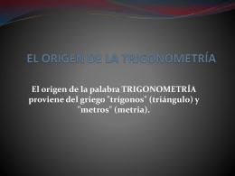 El origen de la trigonometría