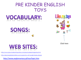 PRE KINDER ENGLISH TOYS