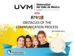 OBSTACLES OF THE COMMUNICATION PROCESS