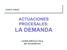 4 unidad.- actuaciones procesales- la demanda