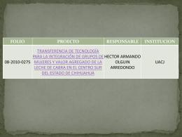 Diapositiva 1 - Fundación Produce Chihuahua