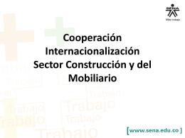 Cooperación Internacionalización Sector Construcción y del