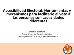 Accesibilidad Electoral: Herramientas y mecanismos para facilitarle