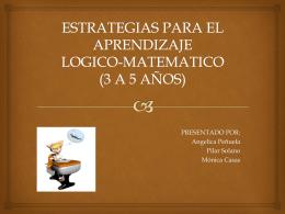 estrategias para el aprendizaje logico-matematico (3 a