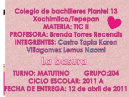 Colegio de bachilleres Plantel 13 Xochimilco/Tepepan