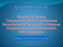Electrosur - osinergmin