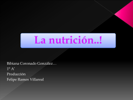 la nutricion...