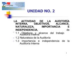 UNIDAD No. 2 Parte I