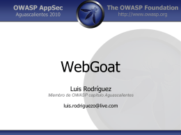 Introducción a WebGoat