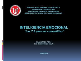 Intligencia emocional y 7S