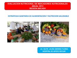 evaluación de indicadores nutricionales anual 2013 region ancash