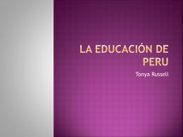 La educación de Peru