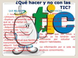 ¿Qué hacer y no con las TIC?