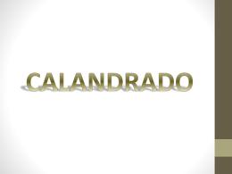 CALANDRADO.