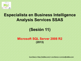 Clase BI MSQL Server2008 Analysis Services
