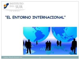 el entorno internacional