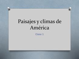 paisajes de América - Colegio Monte de Asís